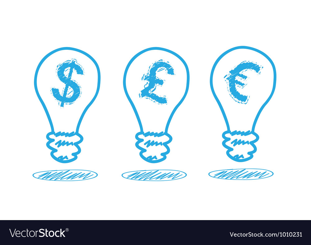 Money icon in the lamp vector | Price: 1 Credit (USD $1)