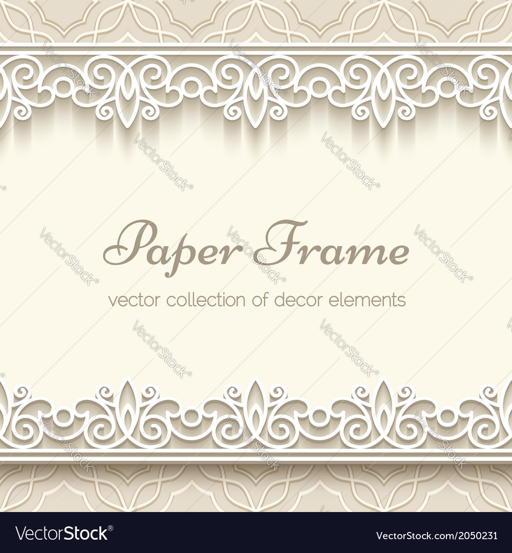 Paper lace background vector | Price: 1 Credit (USD $1)
