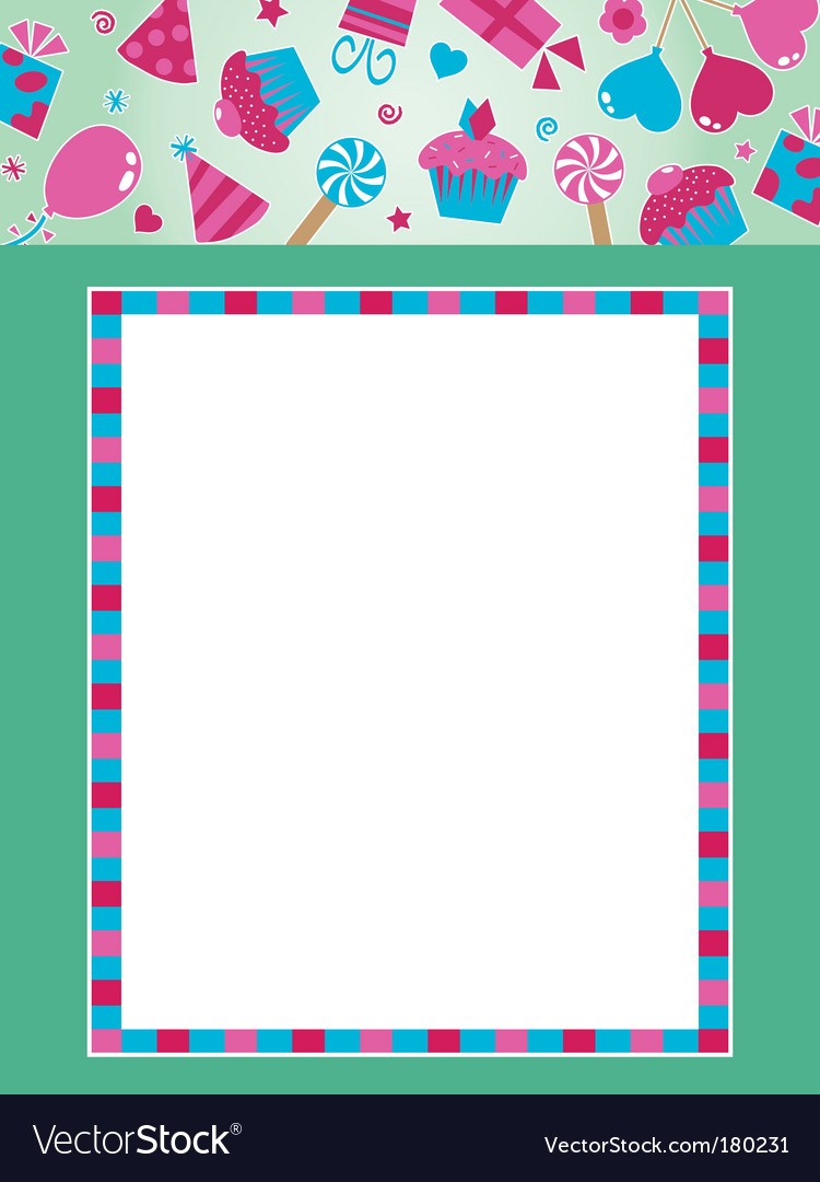 Party frame with banner vector | Price: 1 Credit (USD $1)