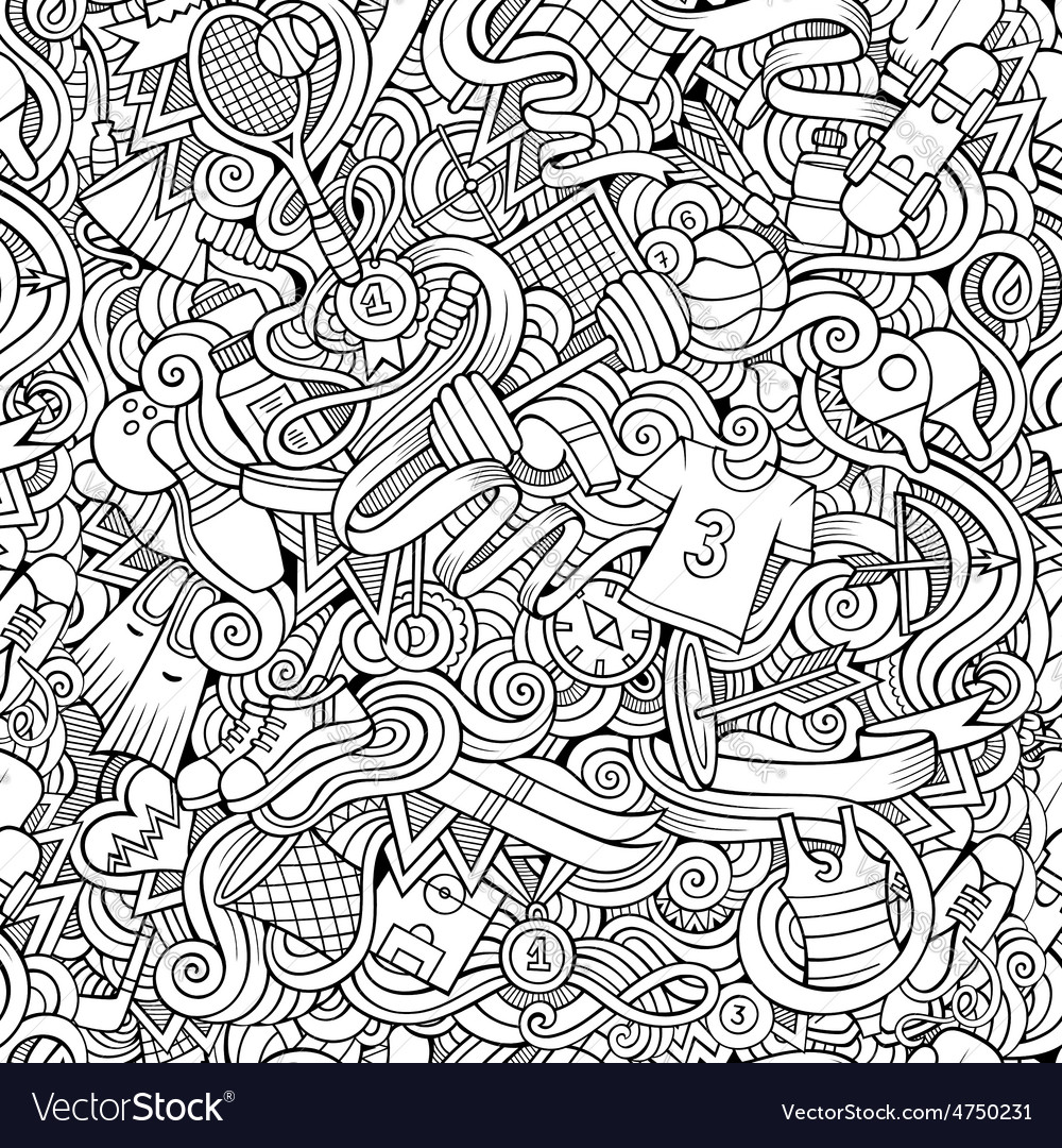 Seamless abstract pattern sports and fitness vector | Price: 1 Credit (USD $1)