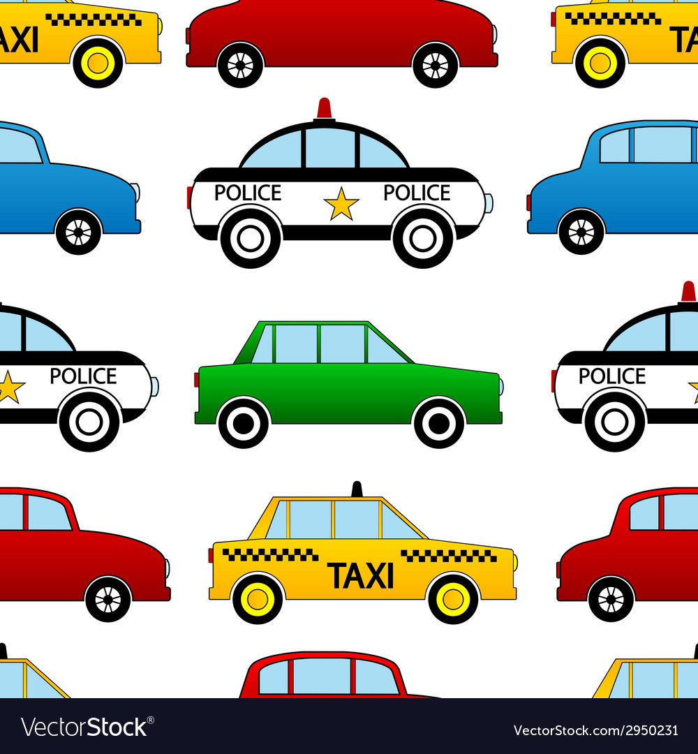 Seamless car pattern vector | Price: 1 Credit (USD $1)