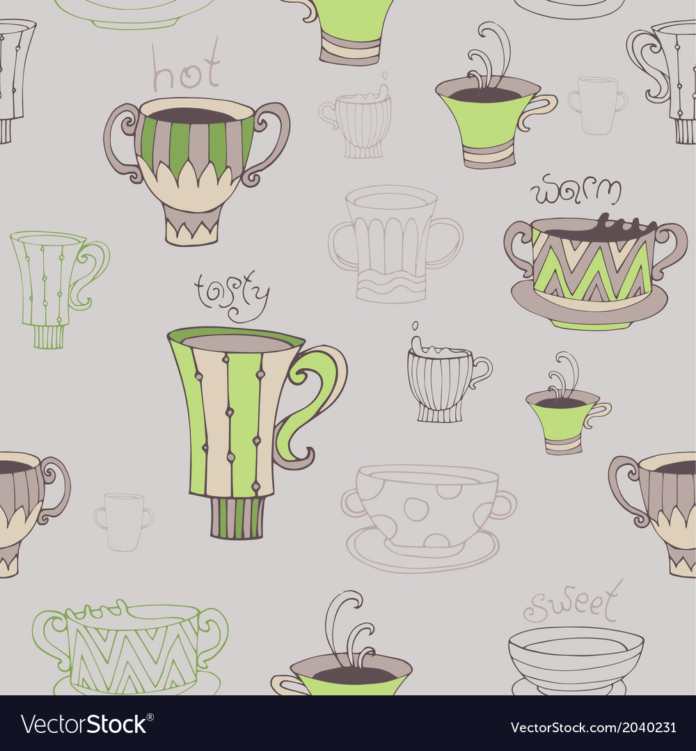 Seamless with cups vector | Price: 1 Credit (USD $1)