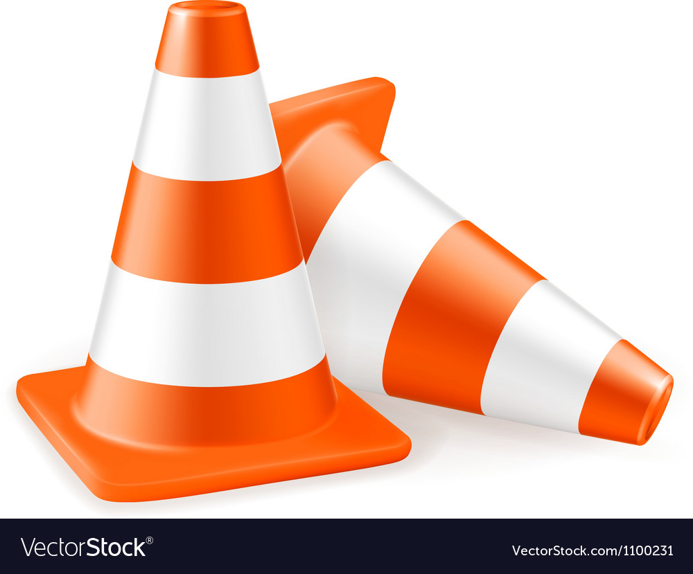 Traffic cone icon vector | Price: 1 Credit (USD $1)