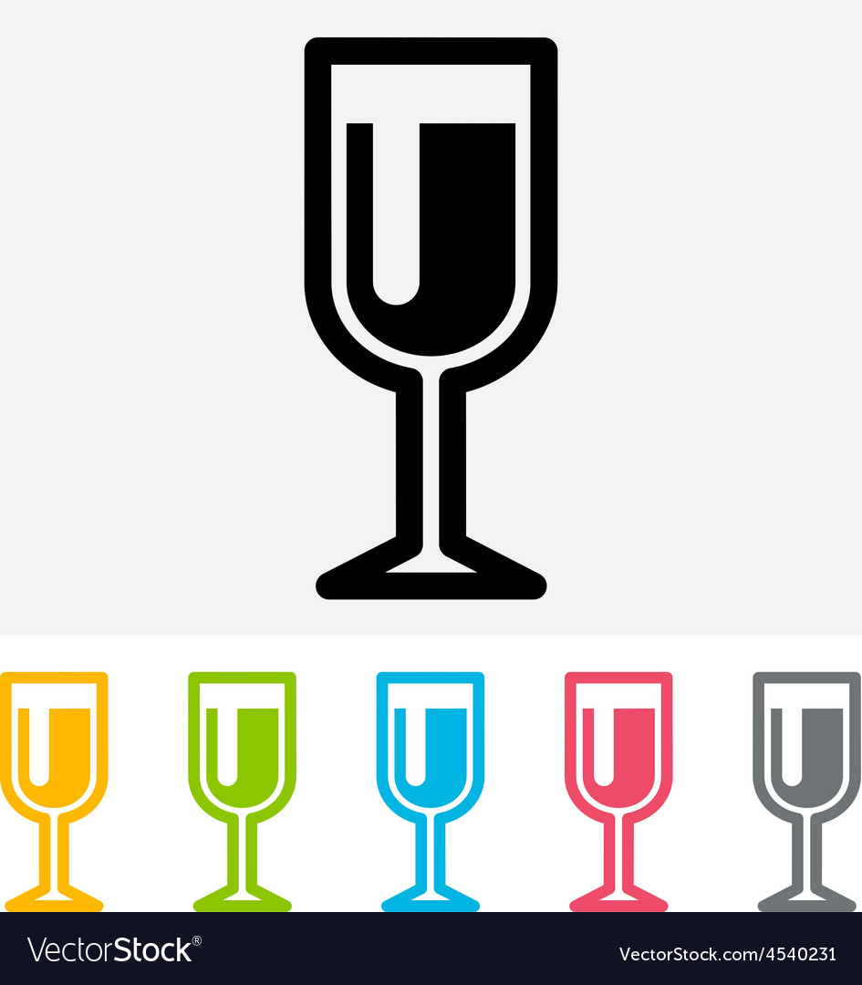 Wineglass icon vector | Price: 1 Credit (USD $1)