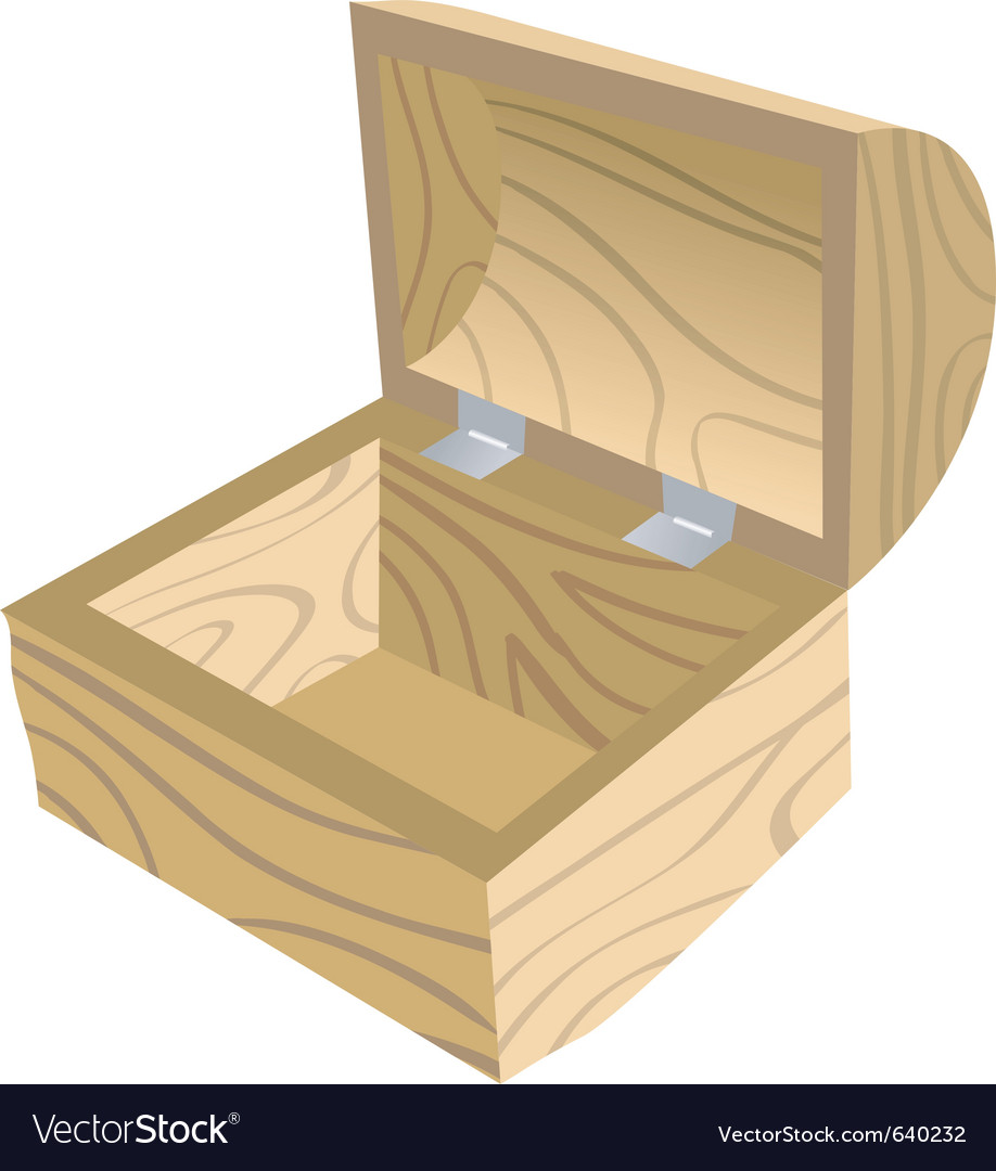 Antique open wooden chest vector   Price: 1 Credit (USD $1)