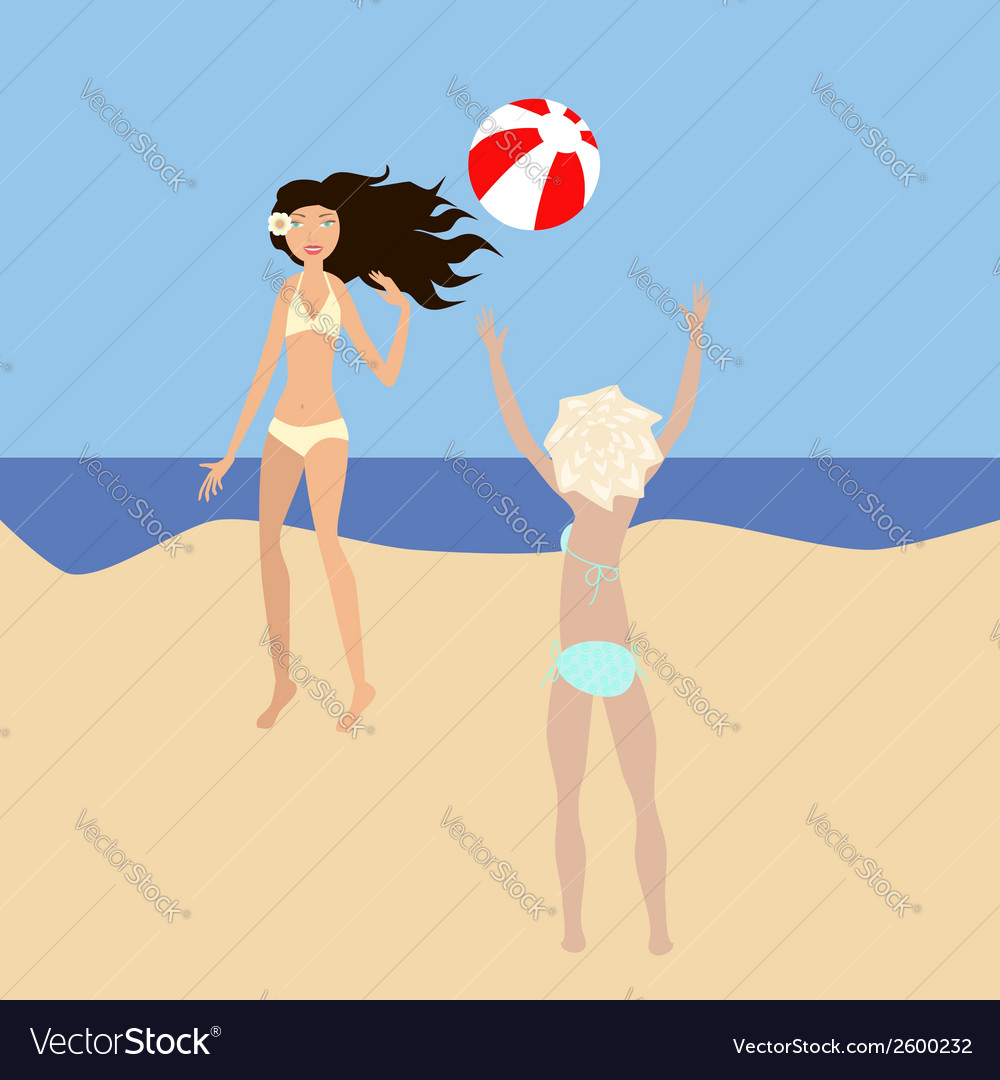 Beach volleyball vector | Price: 1 Credit (USD $1)