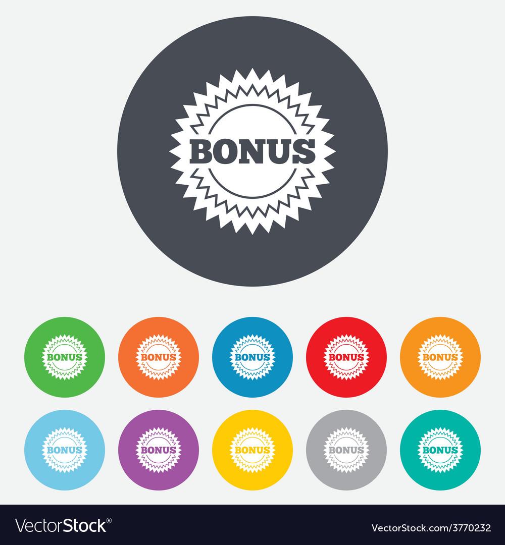 Bonus sign icon special offer star symbol vector   Price: 1 Credit (USD $1)