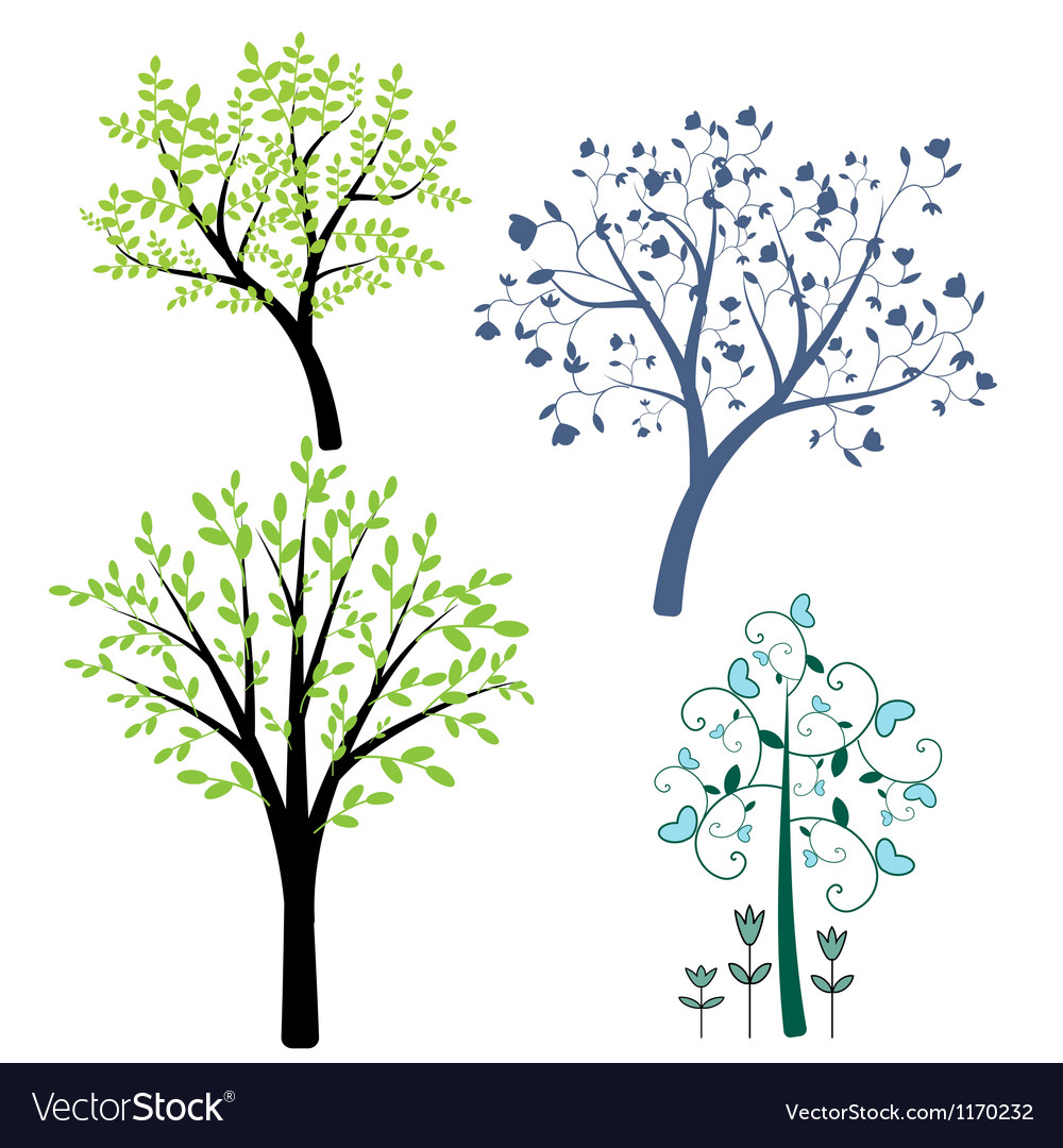 Decorative trees vector | Price: 1 Credit (USD $1)
