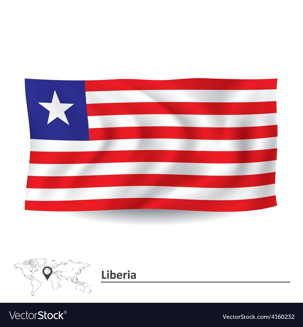 Flag of liberia vector | Price: 1 Credit (USD $1)