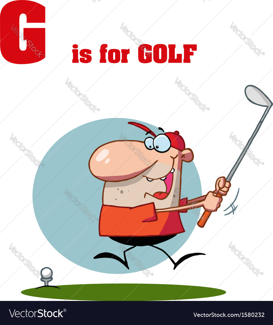 Golf cartoon vector | Price: 1 Credit (USD $1)