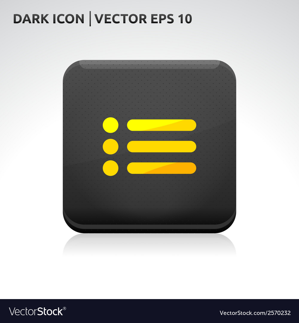 List of contacts icon gold vector   Price: 1 Credit (USD $1)