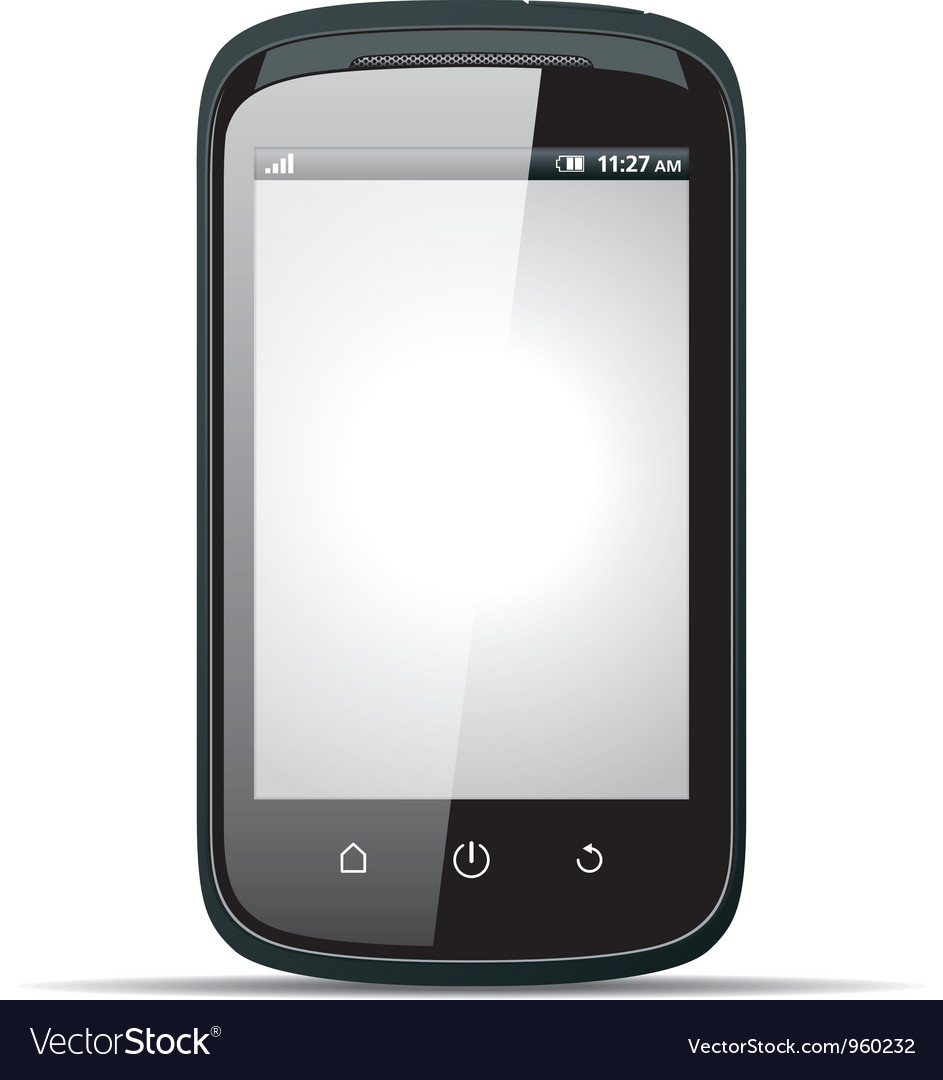 Realistic smartphone with blank screen vector | Price: 3 Credit (USD $3)