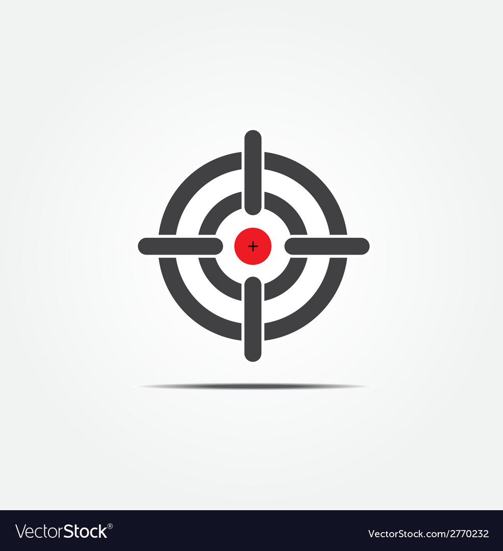 Symbol of crosshair vector | Price: 1 Credit (USD $1)