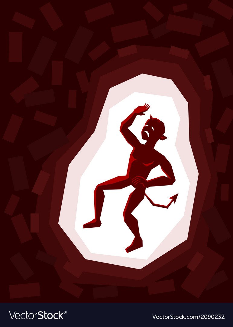 Trapped demon vector | Price: 1 Credit (USD $1)