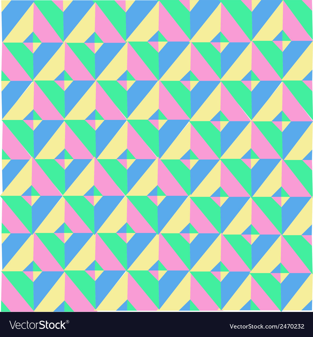 Triangle symmetry vintage pattern vector | Price: 1 Credit (USD $1)