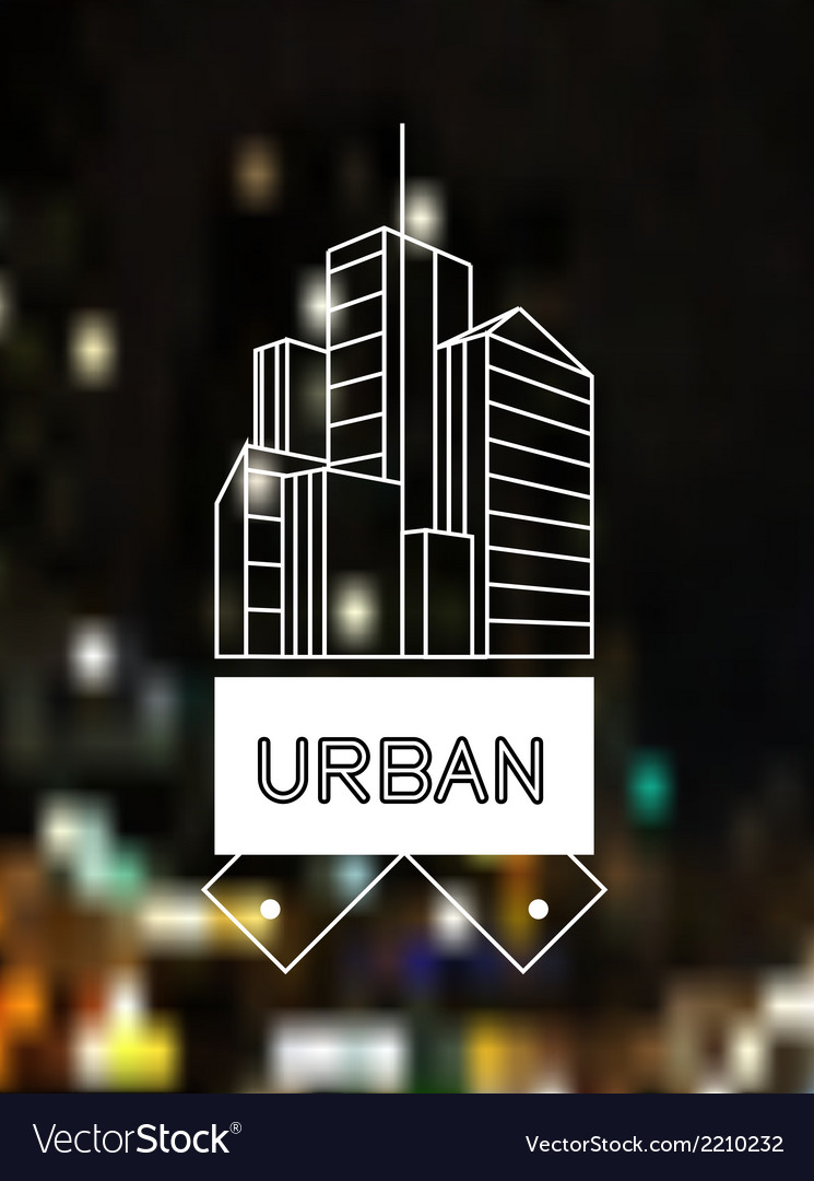 Urban concept skyscrapers line art design vector | Price: 1 Credit (USD $1)