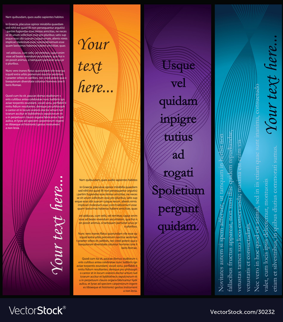 Vertical-banners vector | Price: 1 Credit (USD $1)