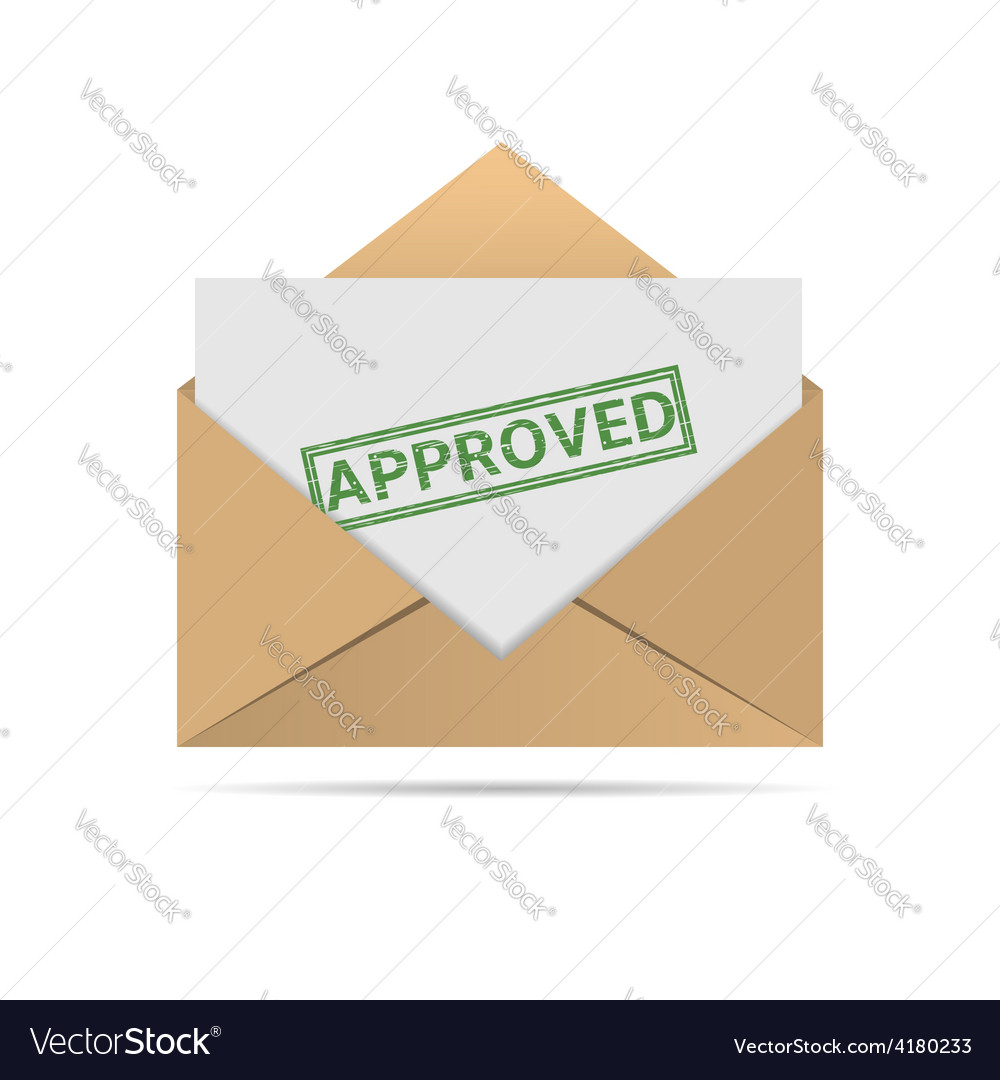 Approved letter vector | Price: 1 Credit (USD $1)