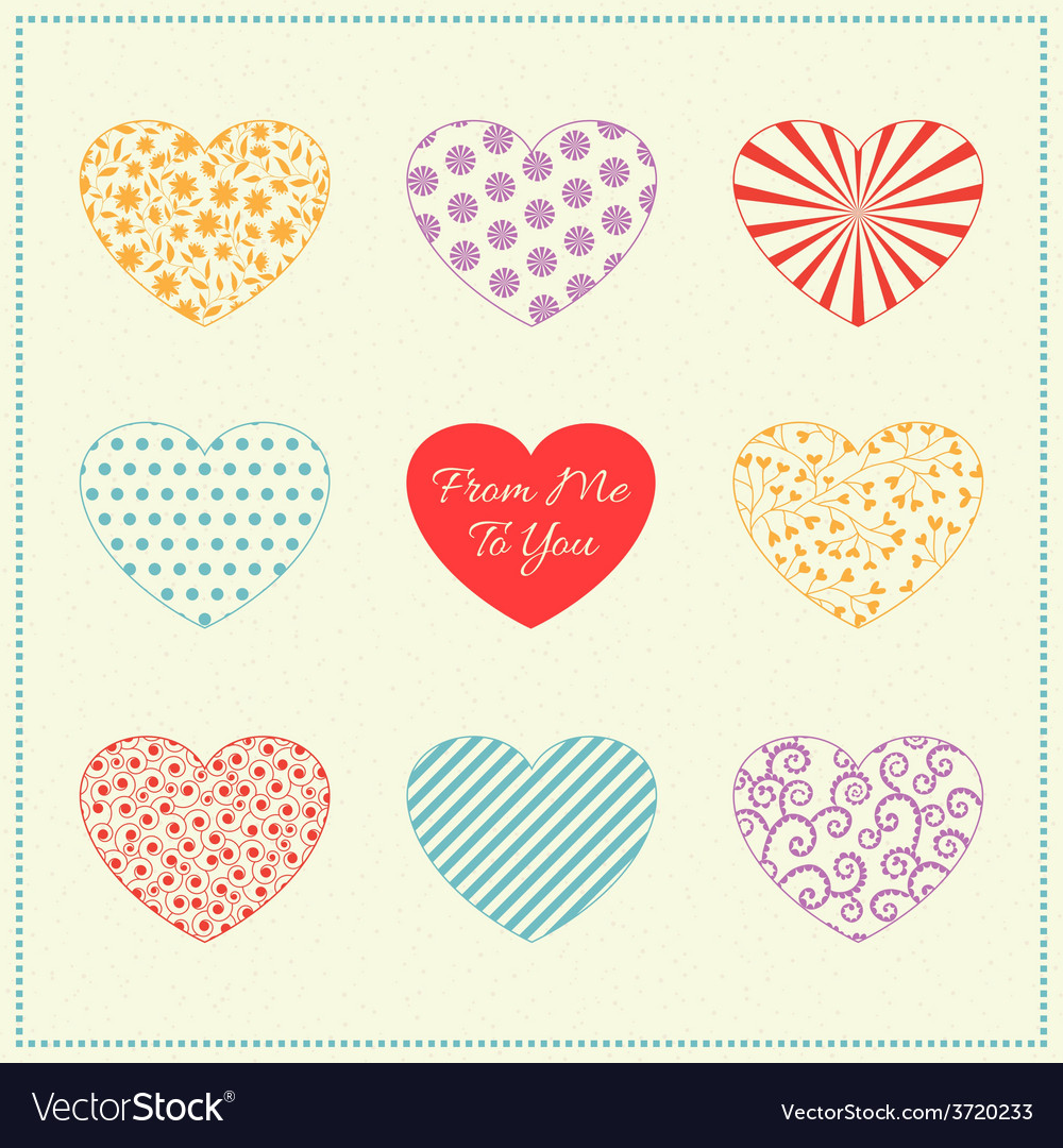 Background with multicolored hearts vector | Price: 1 Credit (USD $1)