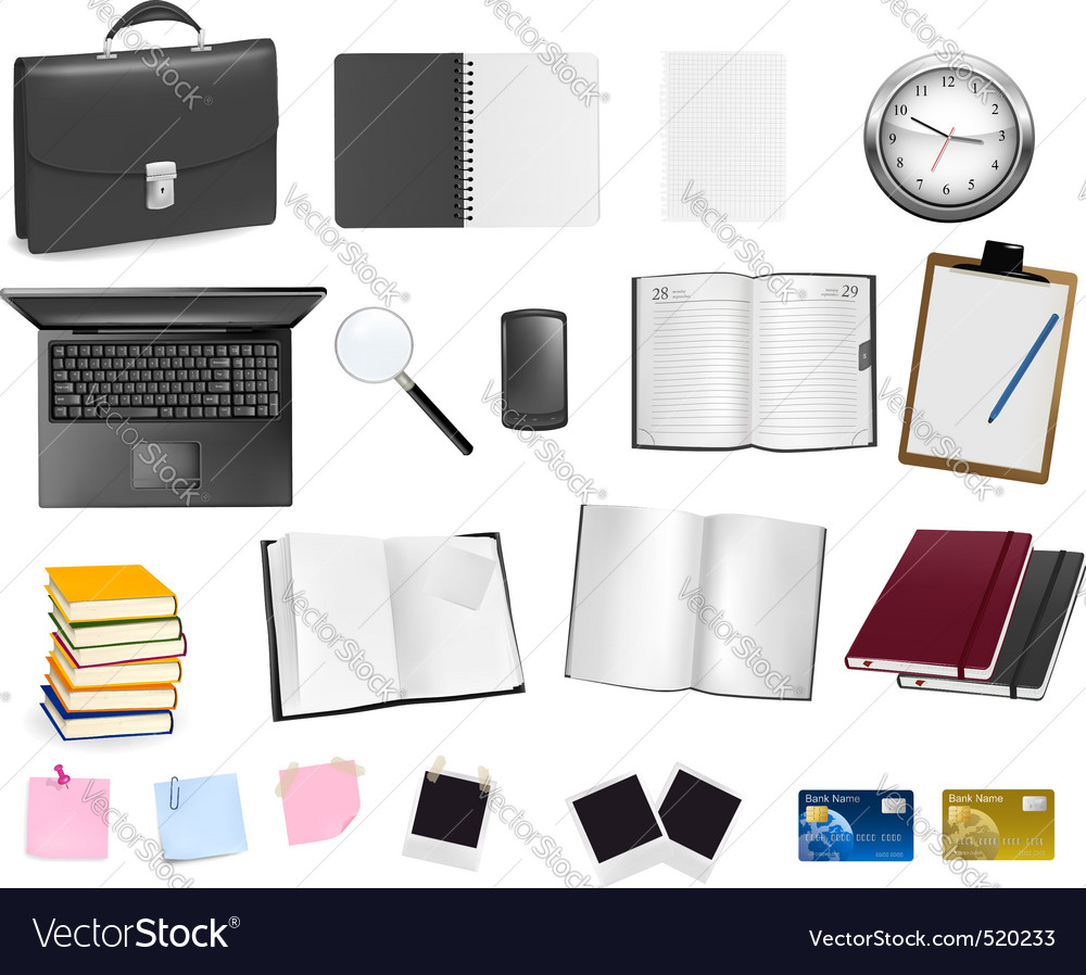 Big set of business elements vector | Price: 1 Credit (USD $1)