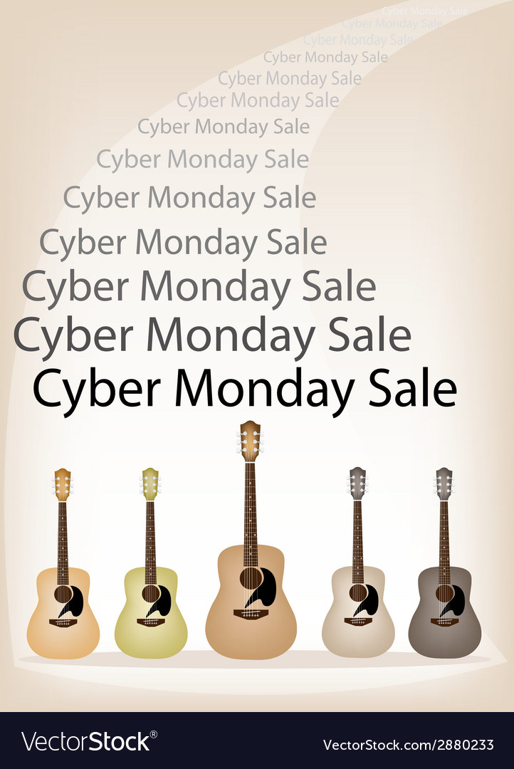 Cyber monday promotion on brown retro stage vector | Price: 1 Credit (USD $1)