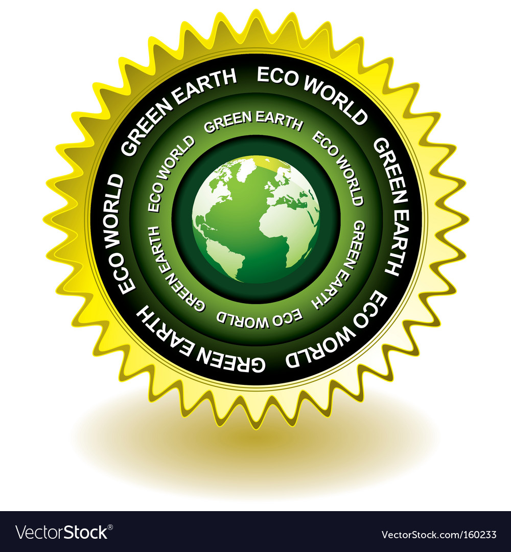 Earth eco icon vector | Price: 1 Credit (USD $1)