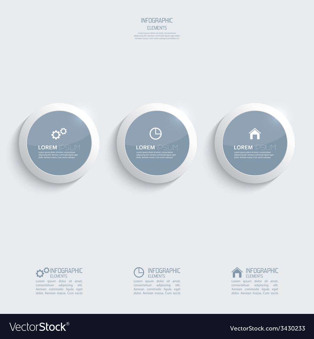Glossy plastic buttons for infographic vector | Price: 1 Credit (USD $1)