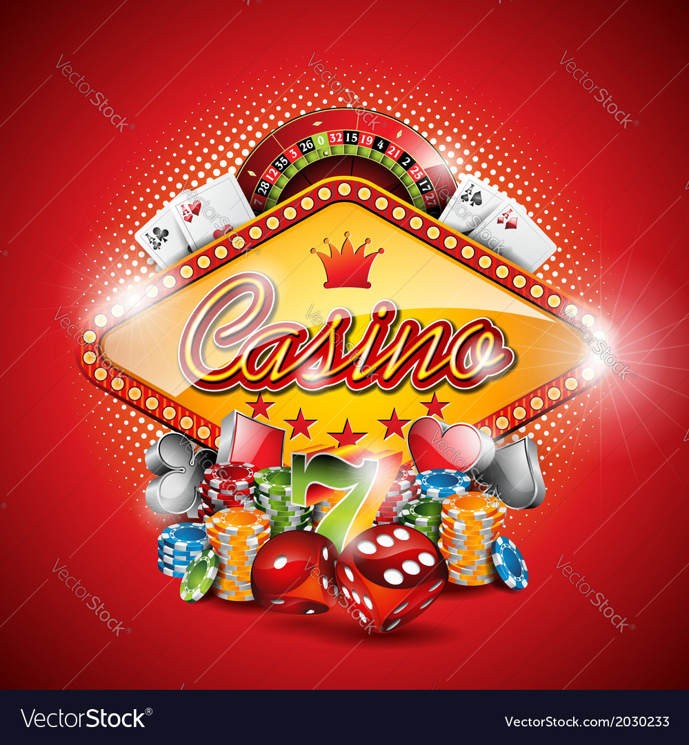 On a casino theme with design element vector | Price: 3 Credit (USD $3)