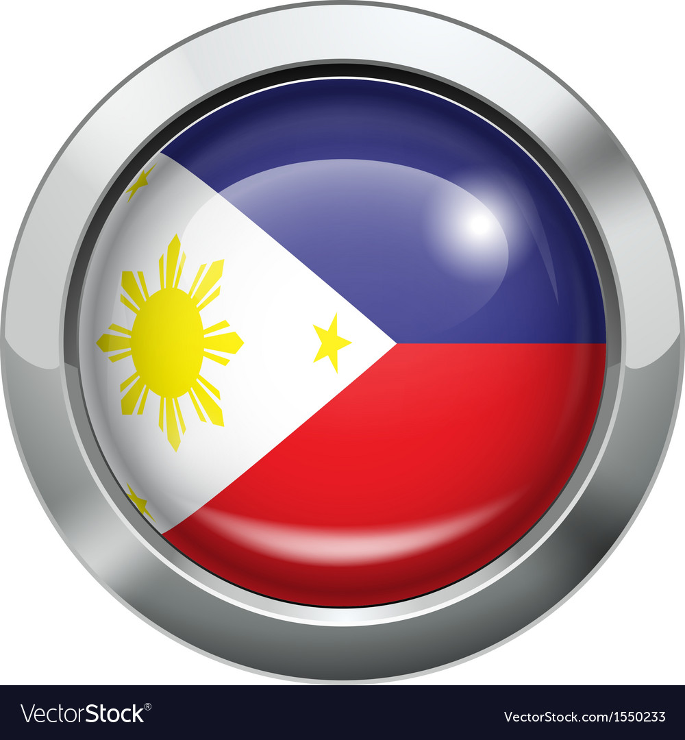 Philippine flag metal button vector | Price: 1 Credit (USD $1)