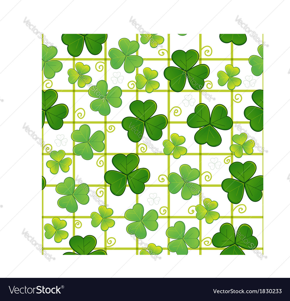 Seamless background with clovers eps10 vector | Price: 1 Credit (USD $1)