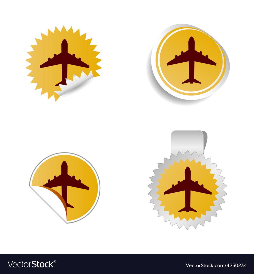 Airplane sticker vector | Price: 1 Credit (USD $1)