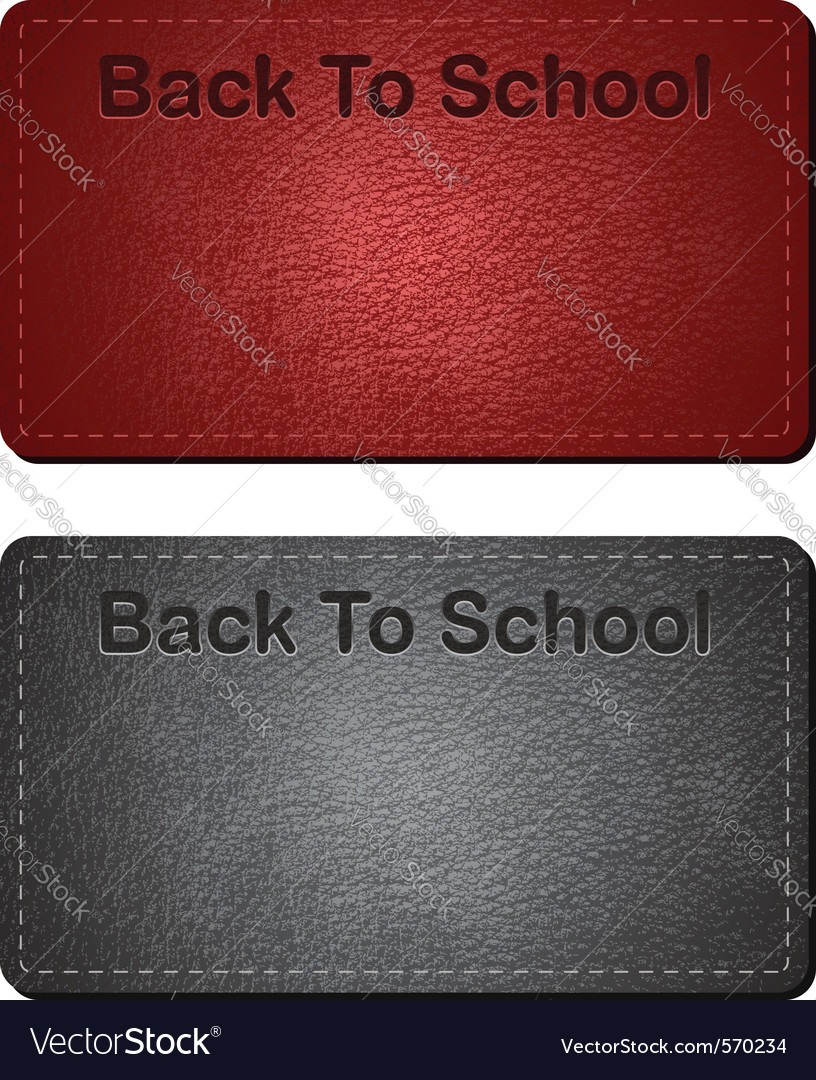 Back to school cards vector | Price: 1 Credit (USD $1)