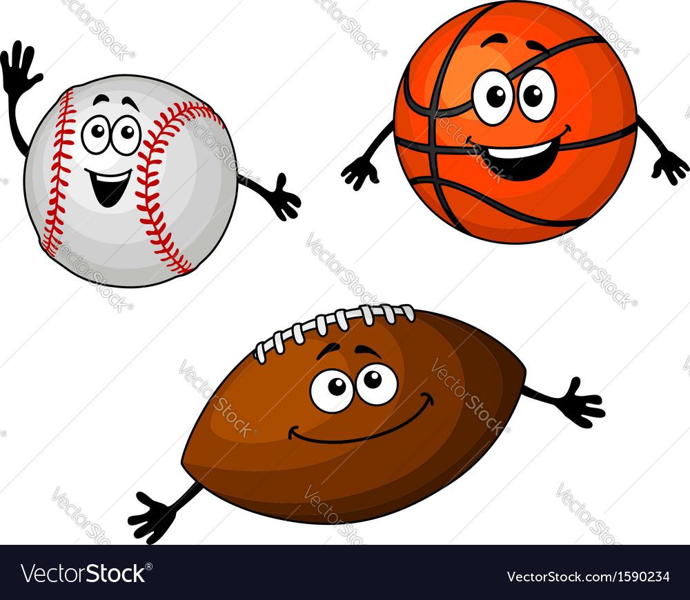 Baseball basketball and rugby balls vector | Price: 1 Credit (USD $1)