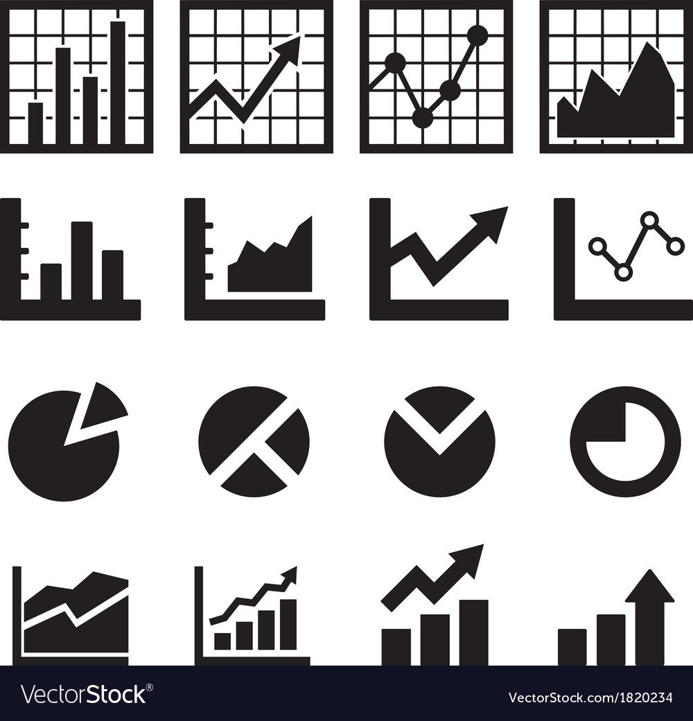Chart and diagram icon vector | Price: 1 Credit (USD $1)