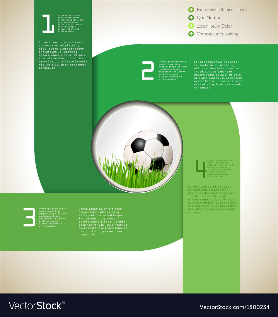 Modern soccer background vector | Price: 1 Credit (USD $1)