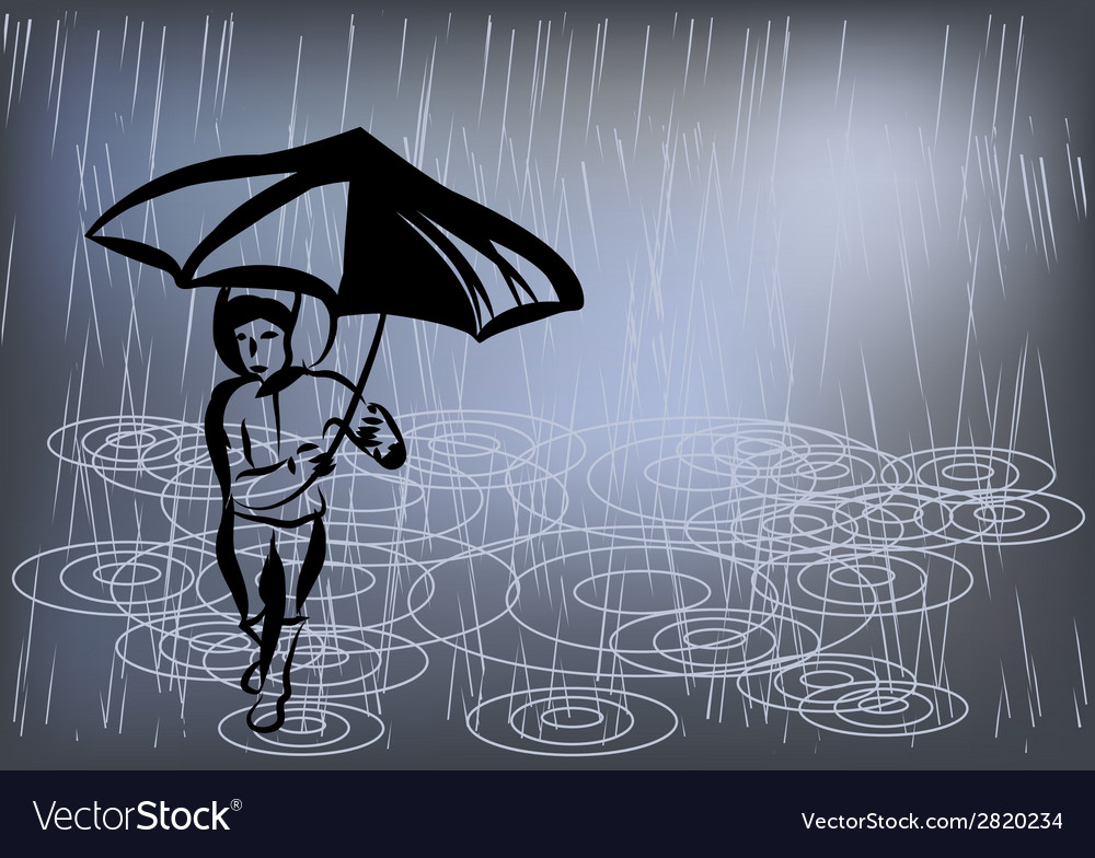 Raining day vector | Price: 1 Credit (USD $1)