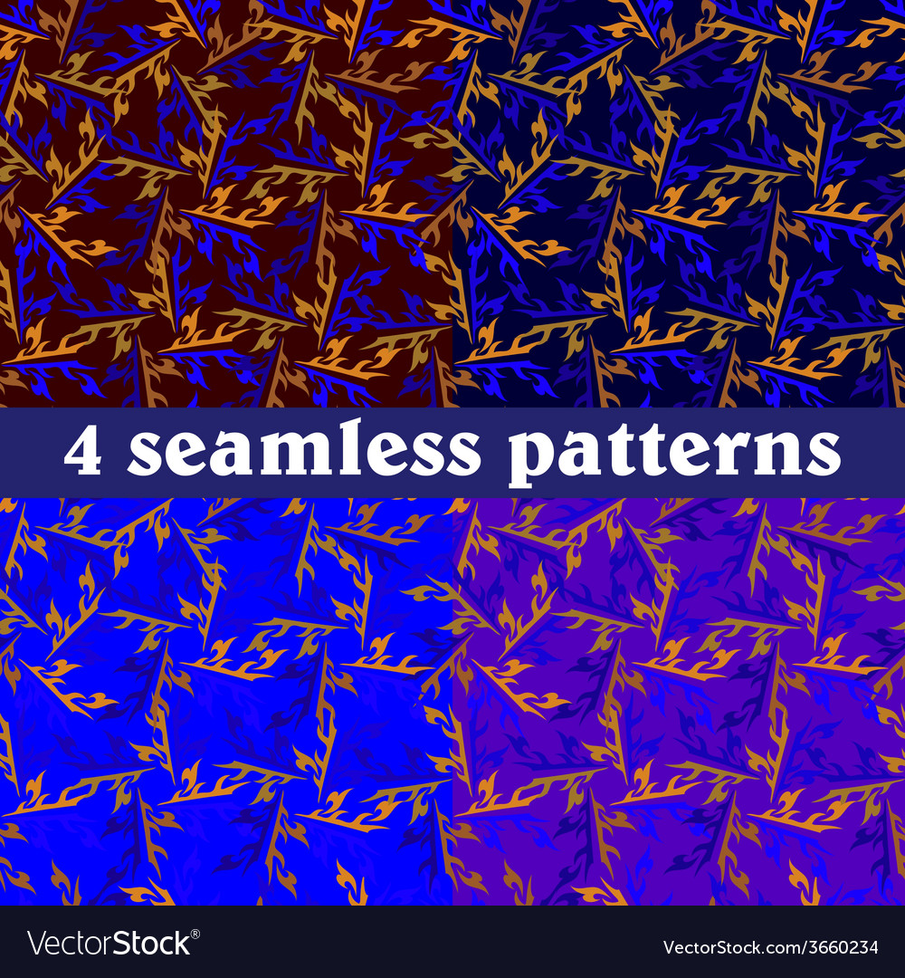 Set of seamless patterns abstract vector | Price: 1 Credit (USD $1)