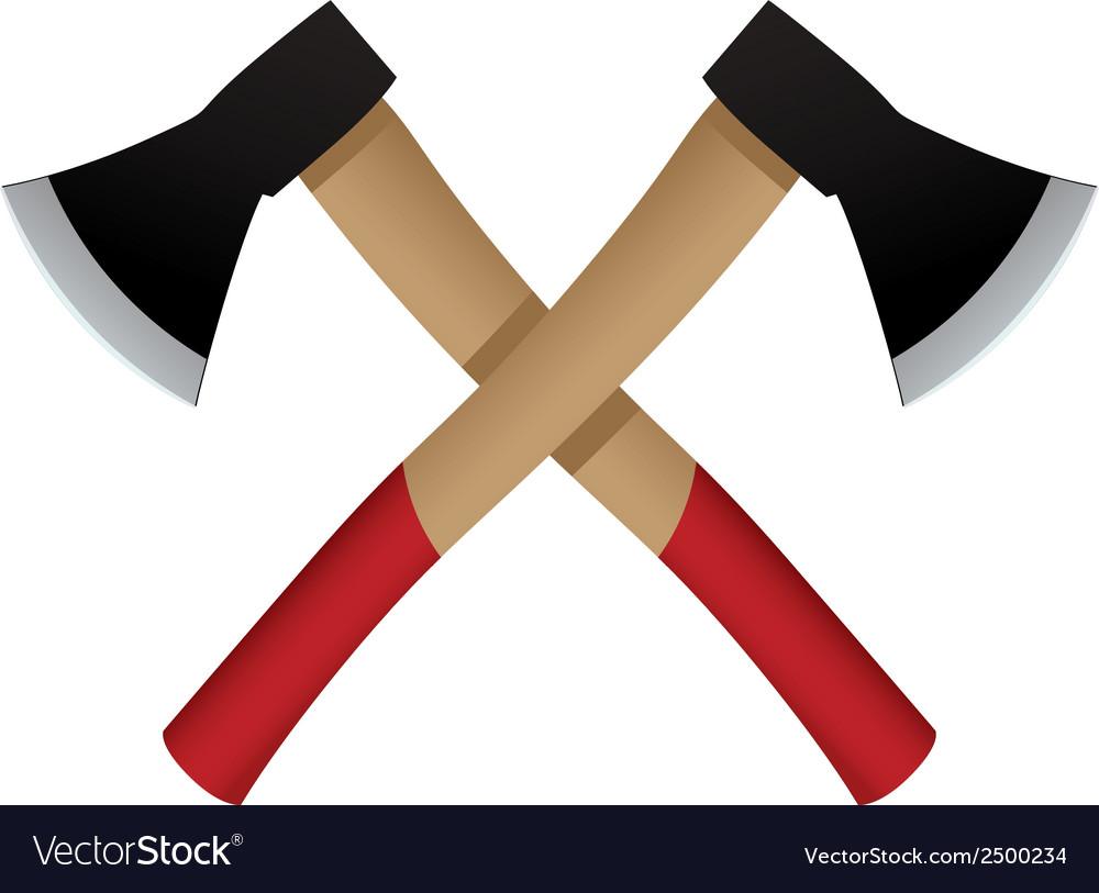 Two axes emblem icon vector | Price: 1 Credit (USD $1)