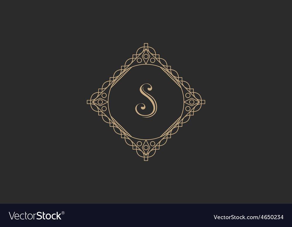 Vintage monogram vector | Price: 1 Credit (USD $1)