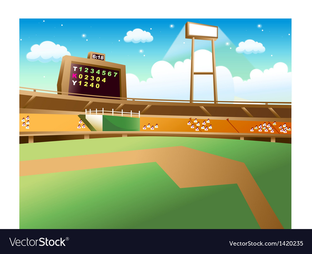 Baseball field background vector | Price: 1 Credit (USD $1)