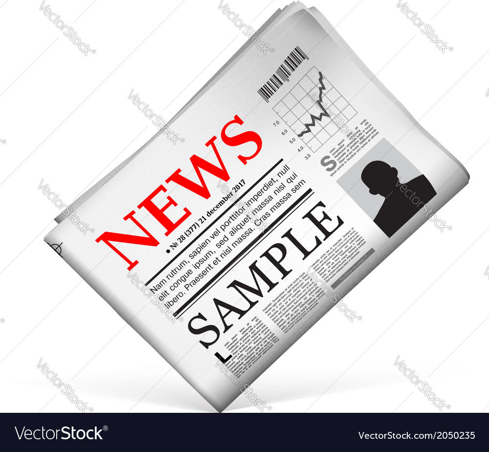 Blank newspaper vector | Price: 1 Credit (USD $1)