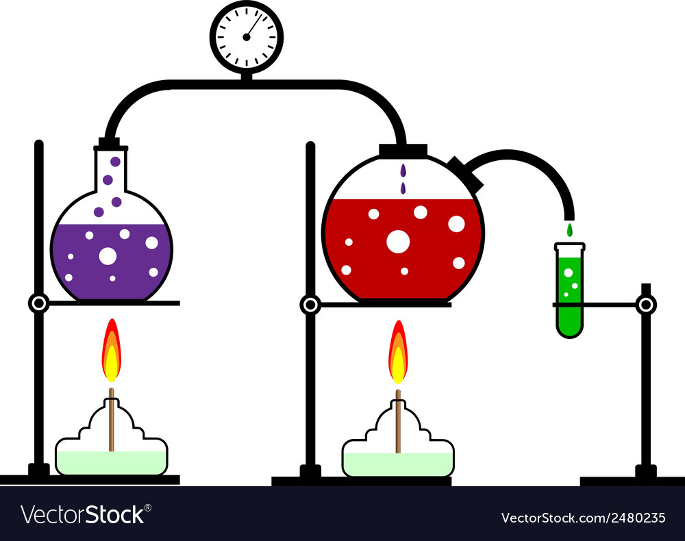 Chemical reaction vector   Price: 1 Credit (USD $1)