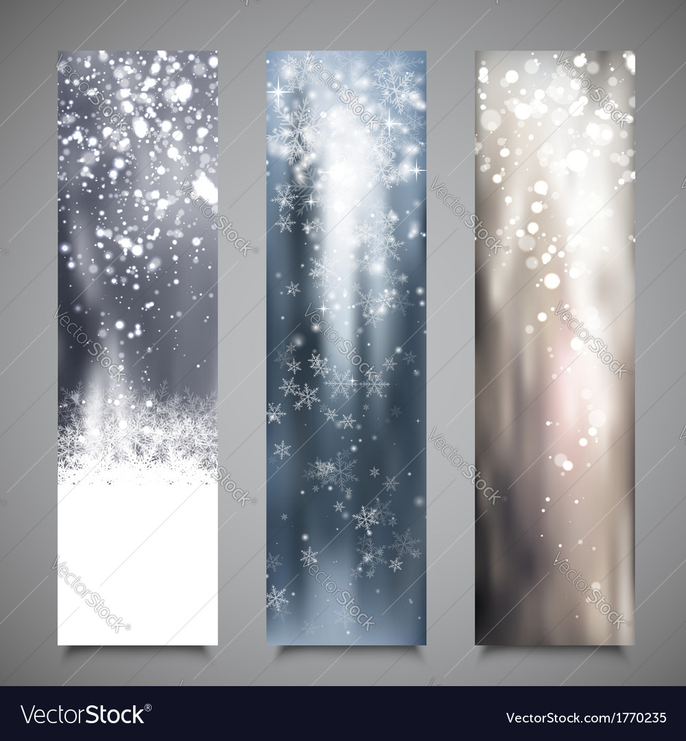 Christmas banners set 2 vector | Price: 1 Credit (USD $1)