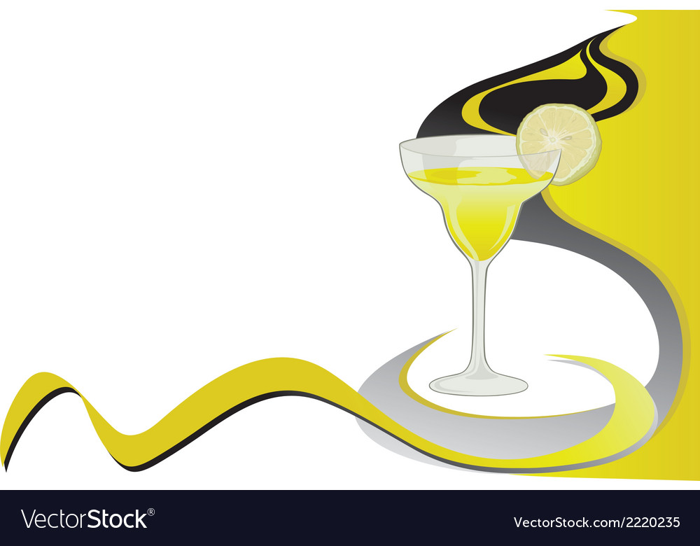 Cocktail lime card vector | Price: 1 Credit (USD $1)
