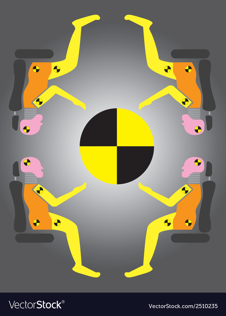 Crash test dummies vector | Price: 1 Credit (USD $1)