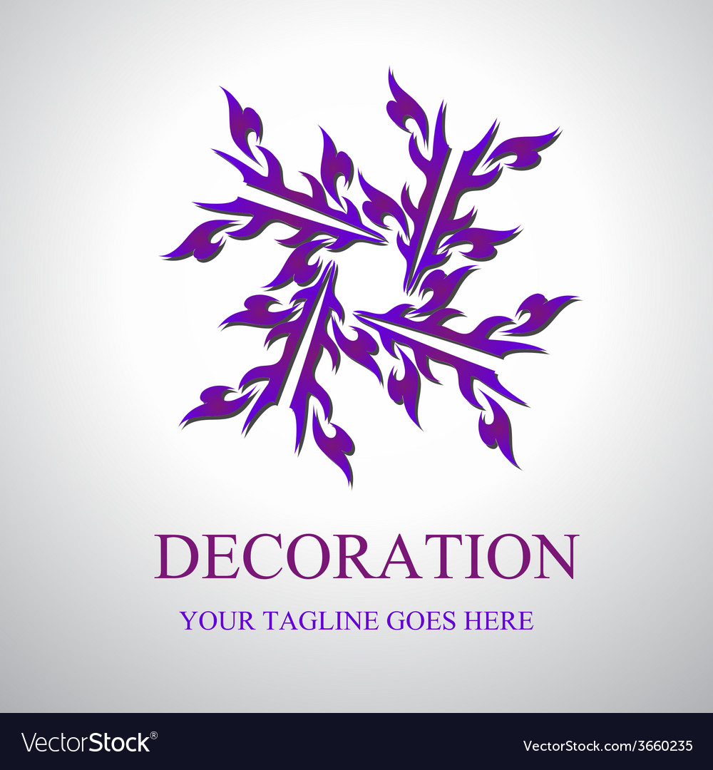 Decoration logo vector | Price: 1 Credit (USD $1)