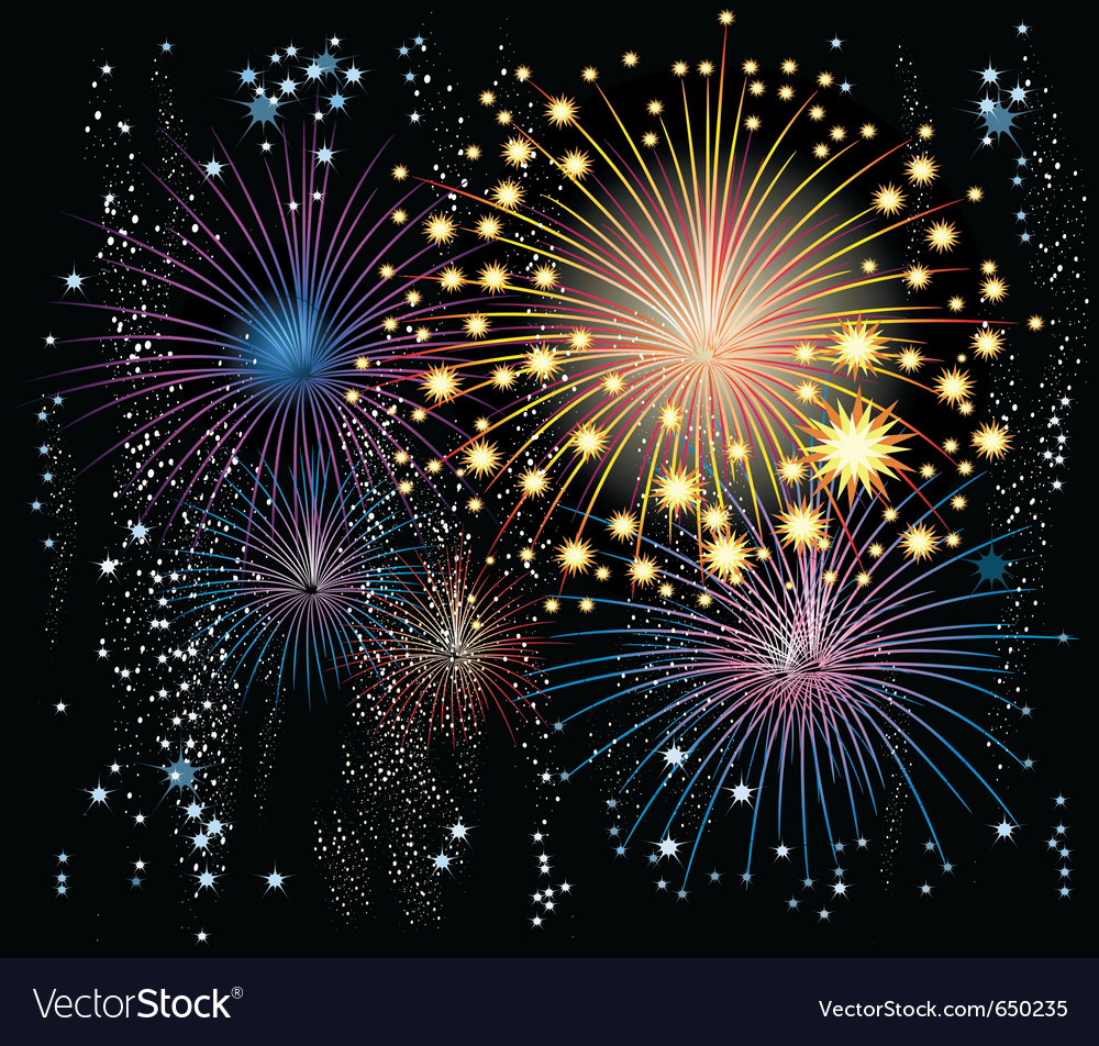 Fireworks in the sky vector | Price: 1 Credit (USD $1)