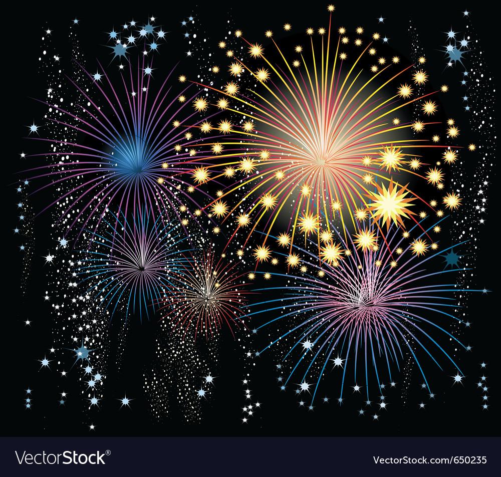 Fireworks in the sky vector | Price: 1 Credit (USD $1)