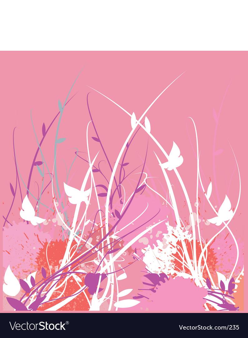 Floral vine garden vector | Price: 1 Credit (USD $1)