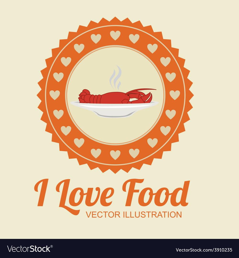 Food design over beige background vector | Price: 1 Credit (USD $1)